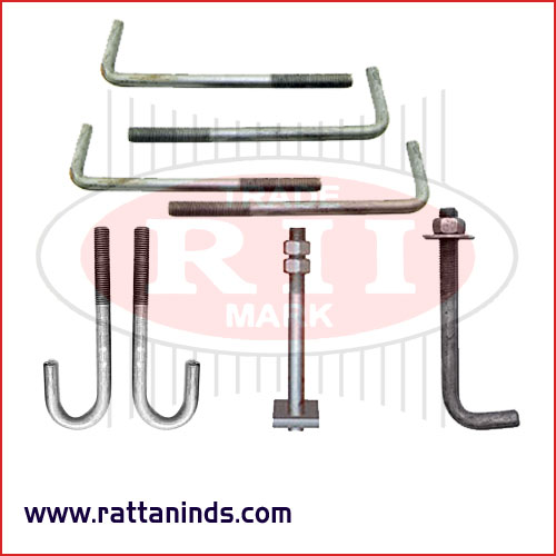 anchor foundation bolts construction bolts manufacturers exporters in India Punjab Ludhiana