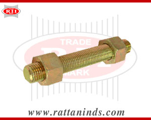 threaded studs with hex nuts manufacturers exporters in india