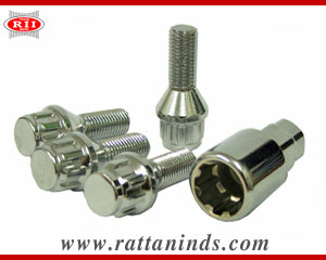 Locking Wheel Bolt manufacturers in india forged tbolt exporters india punjab ludhiana